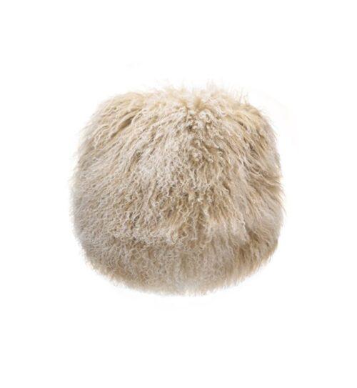 Tibetan Fur Round Cushions