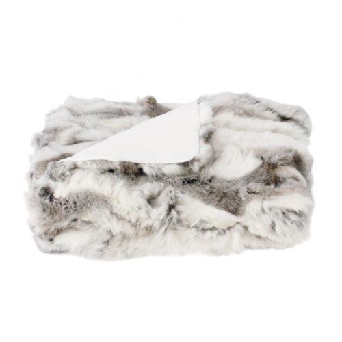 Rabbit Fur Throws