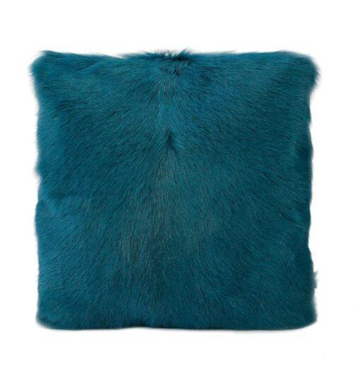 Goat Fur Cushion - Peacock