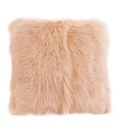 Goat Fur Cushion - Rose Water