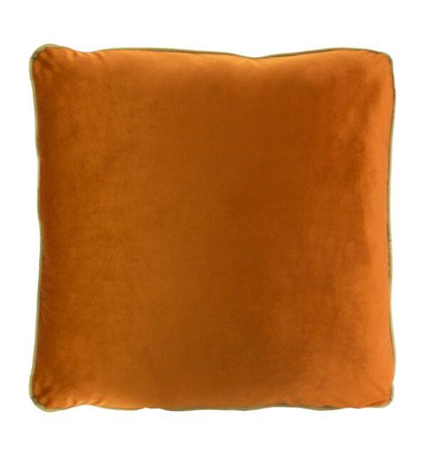 Coco Piped Velvet Cushions - Burnt Orange ( Gold Trim )