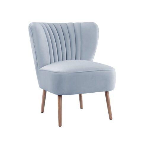 Blue Grey Slipper Chair