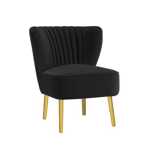 Black Slipper Chair