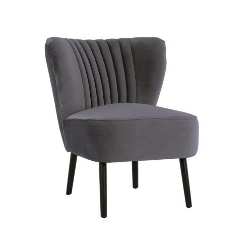 Charcoal Slipper Chair