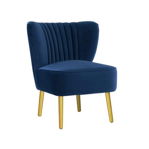 French Navy Slipper Chair