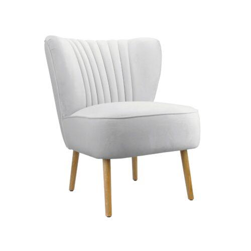 Pebble Grey Slipper Chair