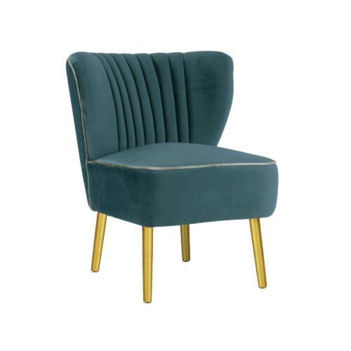 Steel Blue Slipper Chair