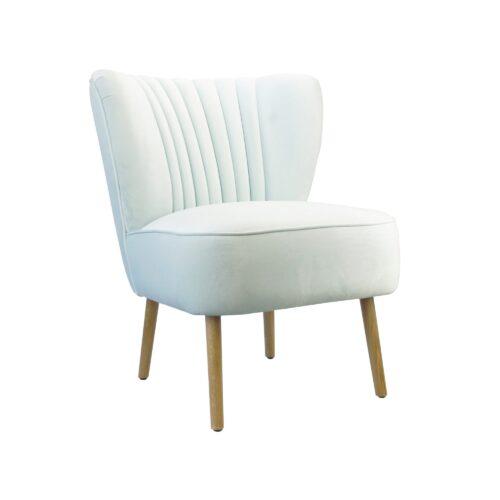 Sky Blue Slipper Chair