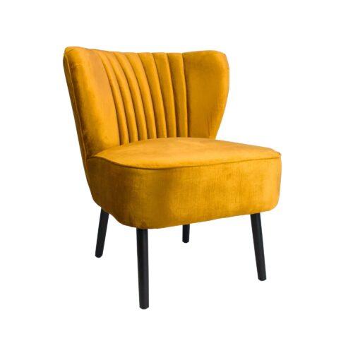 Vintage Marigold Slipper Chair