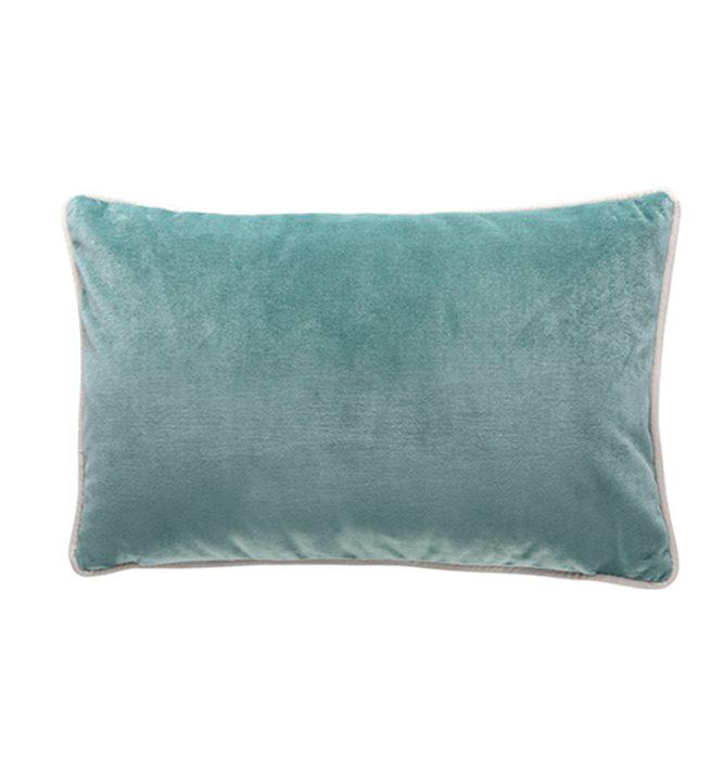 Soho Velvet Lumbar Cushion - Aqua