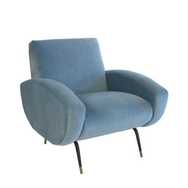 Kennedy Armchair - Dusk Blue