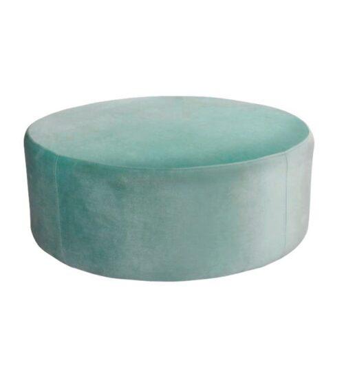 Soho Velvet Ottoman Large - Aqua