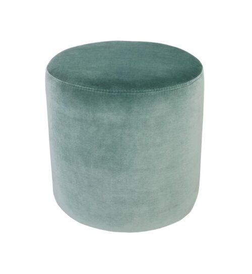 Soho Velvet Ottoman Small - Aqua