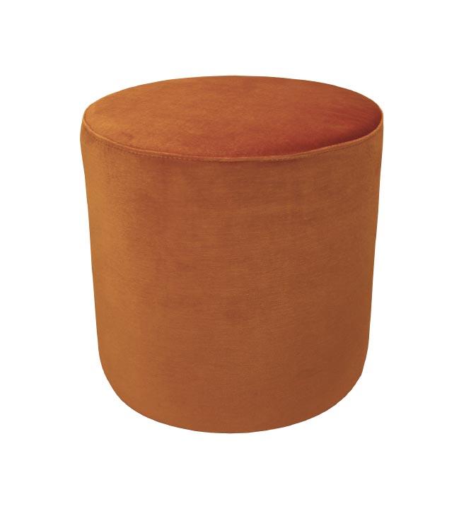 Soho Velvet Ottoman Small - Burnt Orange