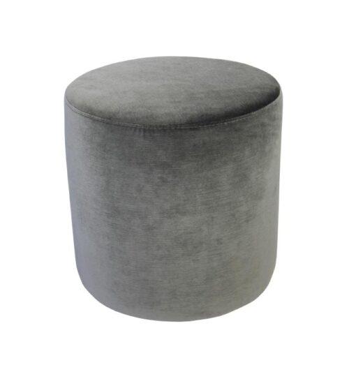 Soho Velvet Ottoman Small - Christian Grey
