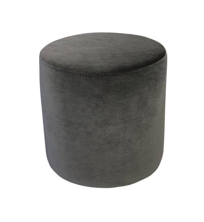 Soho Velvet Ottoman Small - Dark Grey