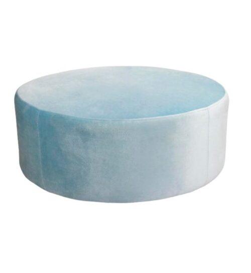 Soho Velvet Ottoman Large - Ice Blue