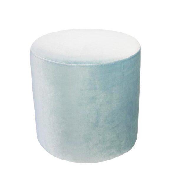 Soho Velvet Ottoman Small - Ice Blue