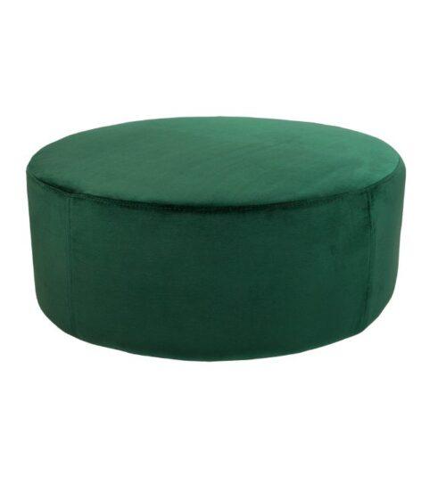 Soho Velvet Ottoman Large - Ivy Green