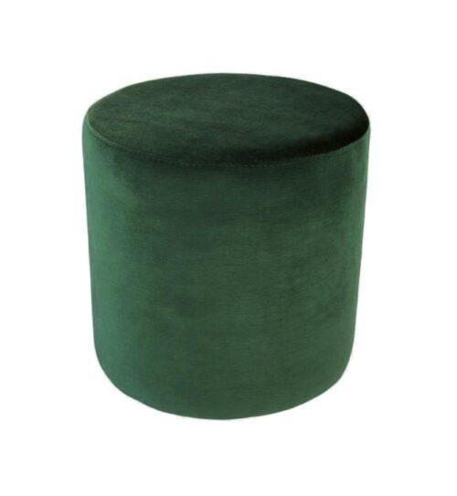Soho Velvet Ottoman Small - Ivy Green