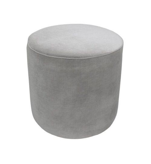 Soho Velvet Ottoman Small - Pebble Grey
