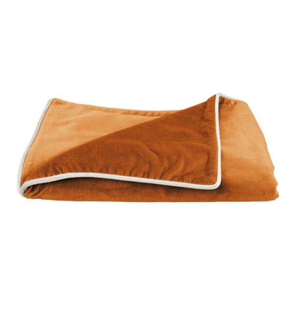 Soho Velvet Throw - Burnt Orange