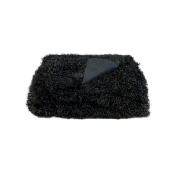 Tibetan Fur Throw - Black
