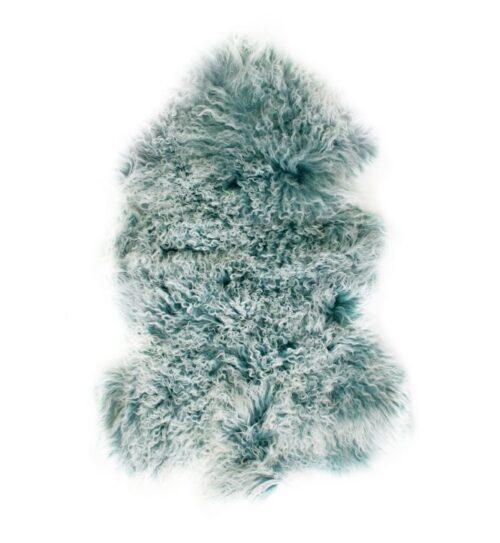 Tibetan Fur Hide - Blue Snowflake