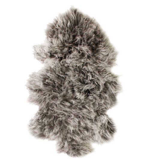 Tibetan Fur Hide - Charcoal Snowflake