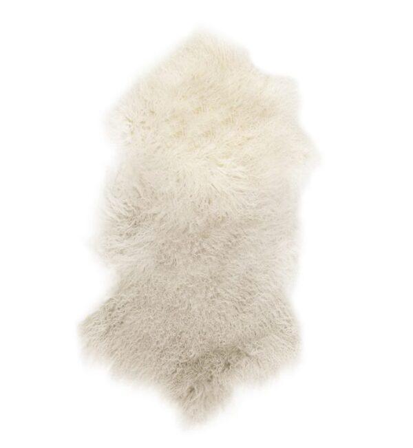 Tibetan Fur Hide - Ivory Grey Ombre