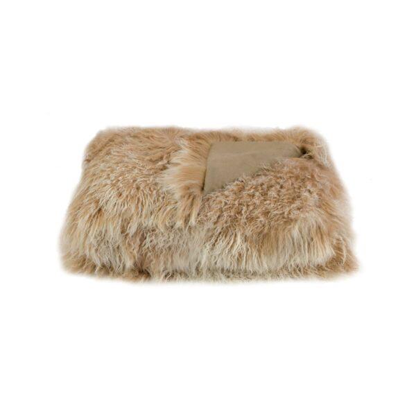 Tibetan Fur Throw - Snowflake