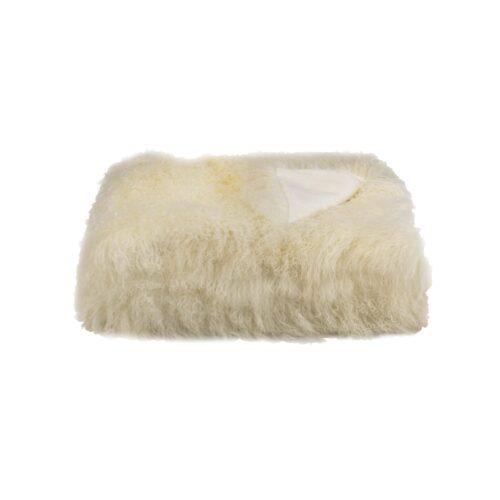 Tibetan Fur Throw - Natural White