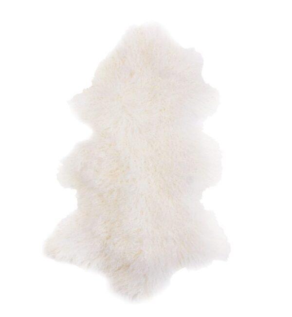 Tibetan Fur Hide - Natural White