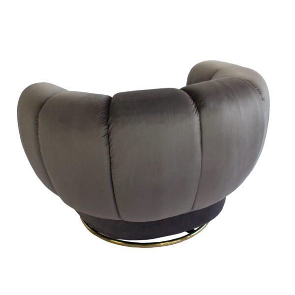 Charcoal Siena Swivel Chair