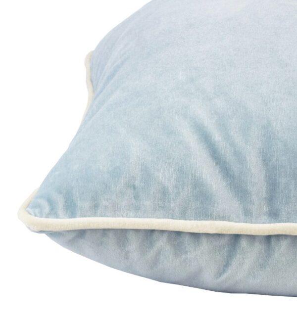 Soho Velvet Lumbar Cushion - Ice Blue