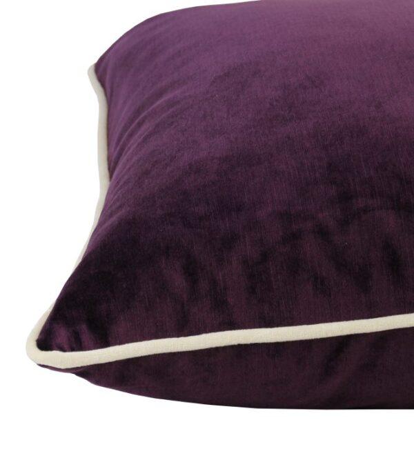 Soho Velvet Lumbar Cushion - Mulberry