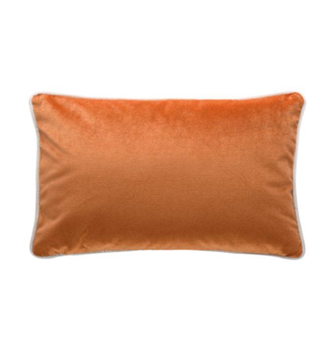 Soho Velvet Lumbar Cushion - Burnt Orange