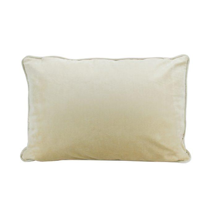 Soho Velvet Lumbar Cushion - Champagne
