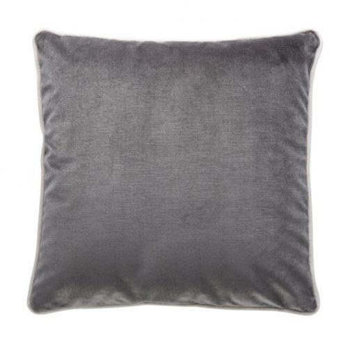 Soho Velvet Cushion - Christian Grey
