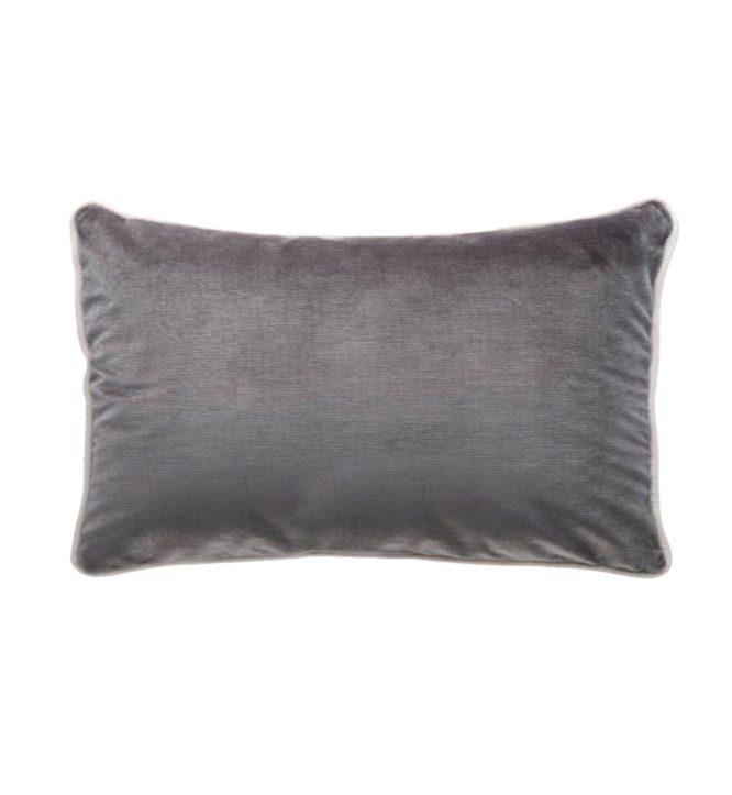 Soho Velvet Lumbar Cushion - Christian Grey