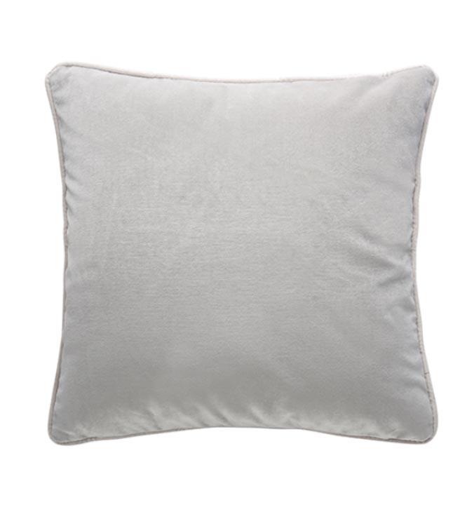 Soho Velvet Cushion - Pebble Grey