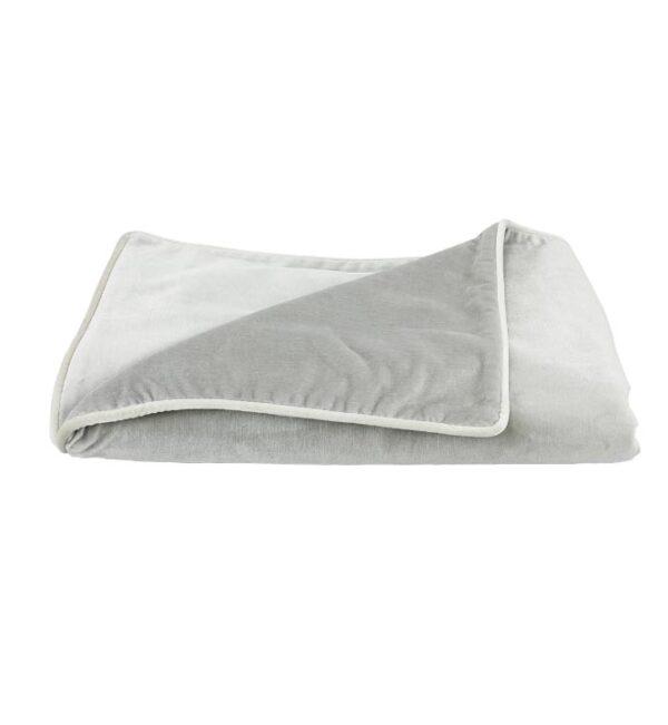 Soho Velvet Throw - Pebble Grey